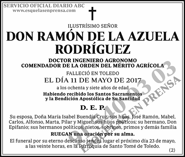 Ramón de la Azuela Rodríguez